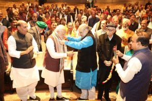PM Modi chairs BJP's strategy meet to counter Opposition in Parliament