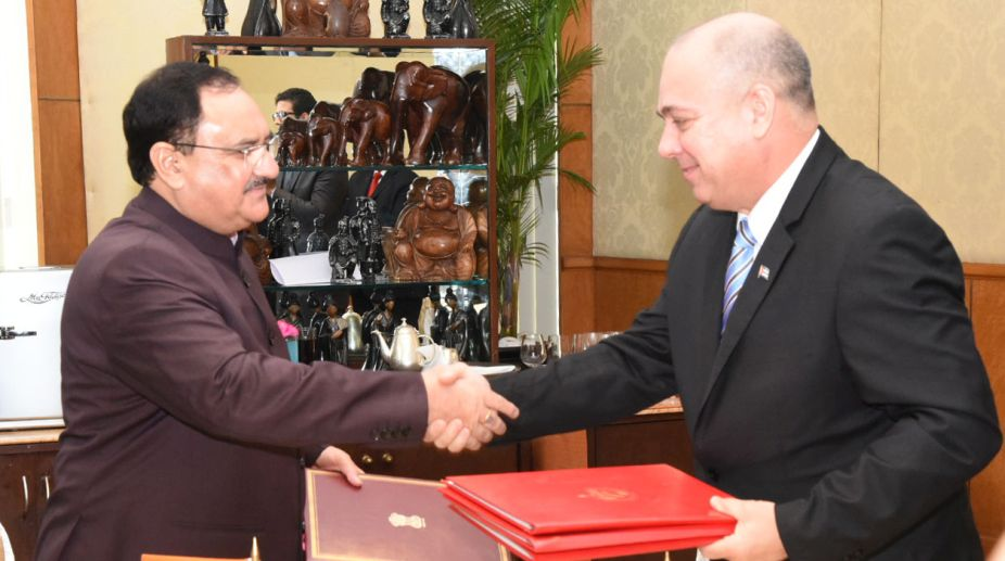 India, Cuba, MoU, Health sector