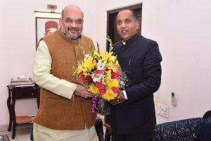 Himachal CM meets Amit Shah in Delhi