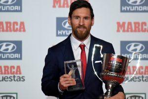 Lionel Messi receives awards for top scorer, best player in La Liga