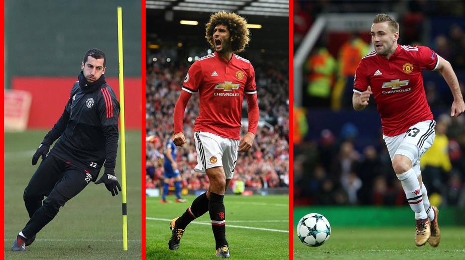 Manchester United F.C., Premier League, Marouane Fellaini, Luke Shaw, Henrikh Mkhitaryan