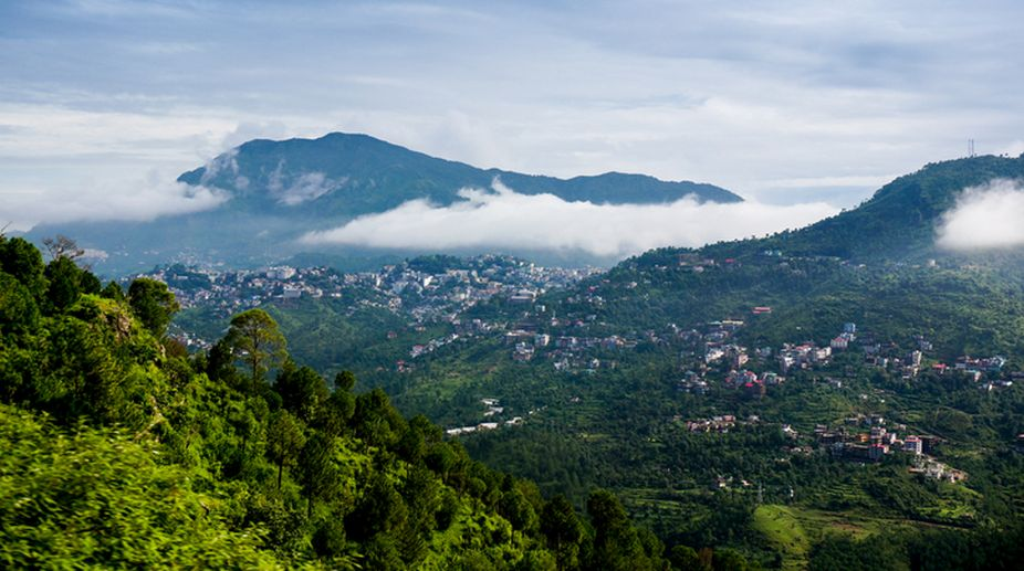 Himachal hills, Sun Shines, snowfall