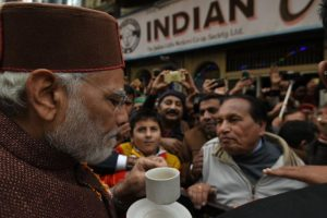 PM Modi relives the past with coffee stop