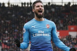 Arsenal striker Olivier Giroud to miss Liverpool fixture