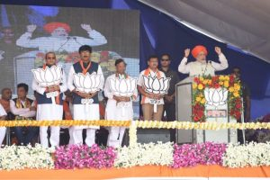 Gujarat polls: PM Modi takes on Congress in Bharuch rally