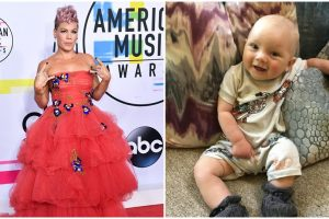 Pink's son gets bloody nose after tumble