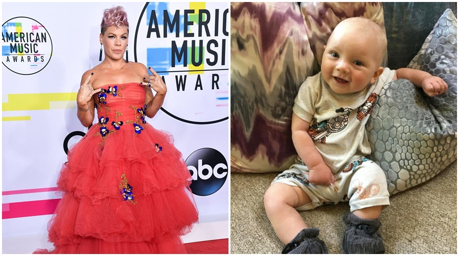 Pink with her son Jameson Hart