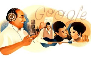 Google dedicates doodle to singer Mohammed Rafi