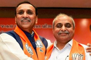 BJP bets on Vijay Rupani again in Gujarat, Nitin Patel Dy CM