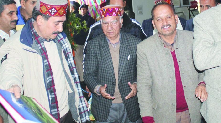 Shanta Kumar, former BJP chief minister, Prem Kumar Dhumal