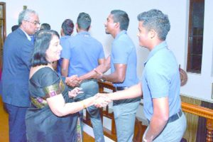 Reception for cricketers