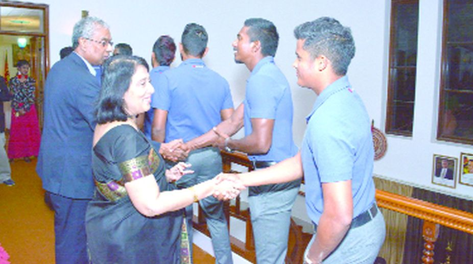 Sri Lankan cricketers, High Commission, Sri Lankan High Commissioner, Chitranganee Wagiswara