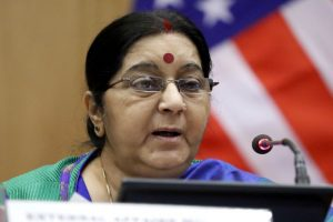 Sushma Swaraj comes to aid of Indian woman stranded with son's body