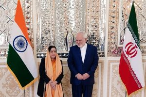 Sushma makes unscheduled visit to Iran ahead of Chabahar port inauguration