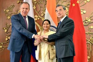 Sushma Swaraj welcomes Chinese, Russian Foreign Ministers