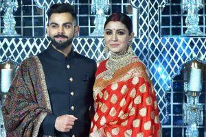 Virushka's reception in Delhi: Virat in 'bandh gala', Anushka in red and golden saree look beautiful