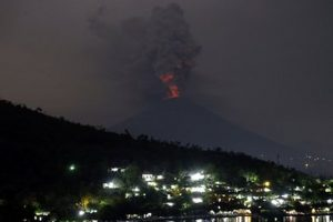 Bali's Mount Agung spews 2km ash column