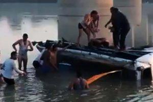 32 die as bus plunges into river in Rajasthan's Sawai Madhopur