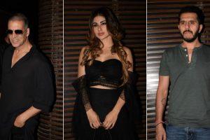 Akshay Kumar, Mouni Roy, Farhan Akhtar at 'Gold's wrap up party