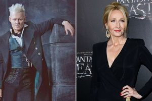 J K Rowling happy to have Depp in 'Fantastic Beasts' sequel
