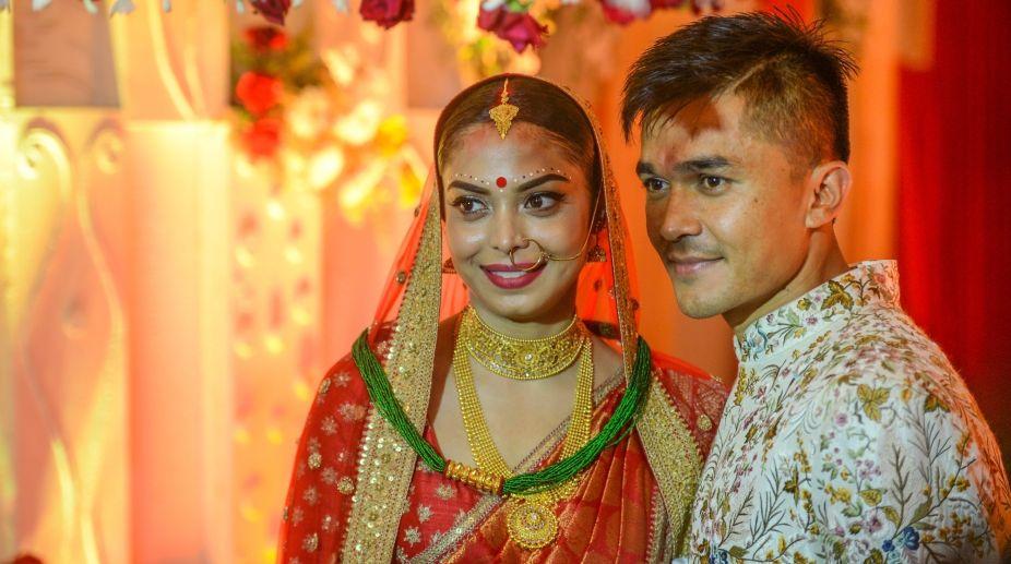 Sunil Chhetri, Sonam Bhattacharya, Wedding, Indian soccer, Captain