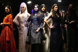 Transgender models catwalk at fashion show in Delhi