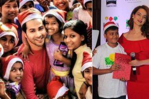 Varun Dhawan, Kangana celebrate Christmas with underprivileged kids