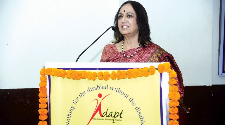 Padma Shri Mithu Alur, founder of ADAPT- Able Disabled All People Together