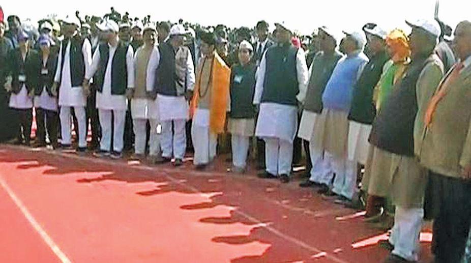 Nitish's human chain