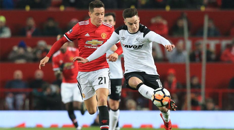Ander Herrera, Manchester United F.C., Premier League, FA Cup, Manchester United vs Derby County, Ander Herrera, Tom Lawerence