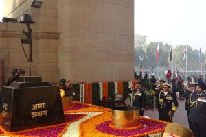 In pics: Army, Navy, Air Force chiefs salute martyrs on Army Day