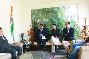 Gurung in Delhi, says ready to cooperate