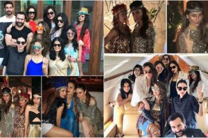 Pics: BFFs Kareena, Malaika, Karisma heads to Goa for Amrita Arora's birthday bash