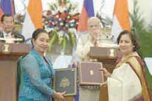 India-Cambodia sign four agreements