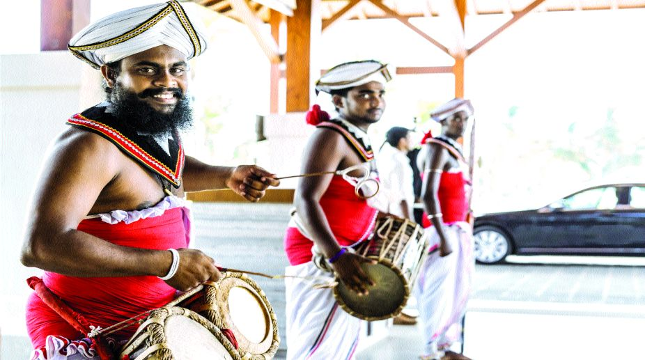 Traditional musicians at VIP arrival
