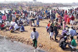 Santhals gather for Jilling Dahar ritual