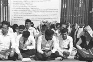 NOU students stage protest dharna against lack of proper infrastructure