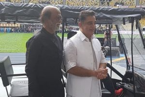 Rajinikanth, Kamal Haasan share dais at a charity event in Malaysia