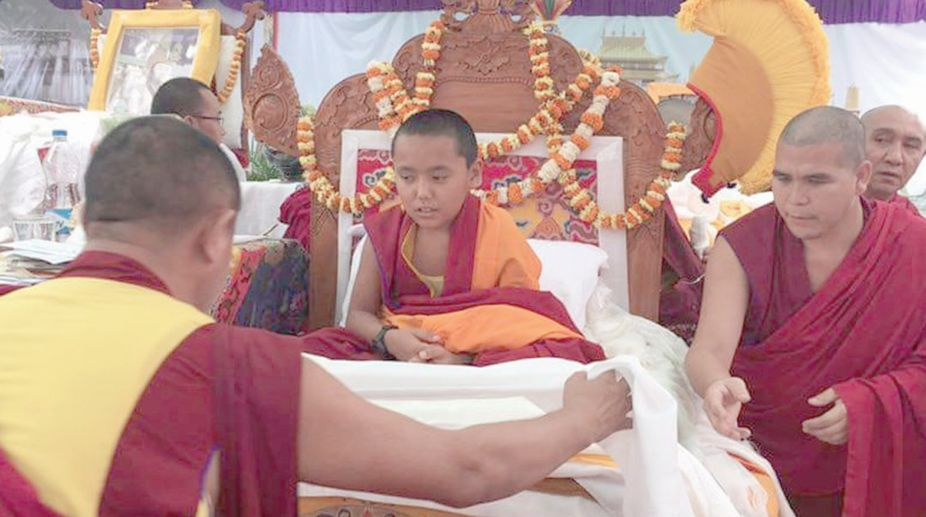 Enrolment ceremony of the 20th reincarnation of the Bakula Rinpoche at the Drepung Loseling moanstery in Karnataka copy