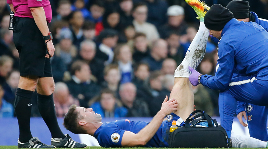 Gary Cahill, Chelsea F.C., Premier League, Chelsea vs Leicester City, Gary Cahill Injury