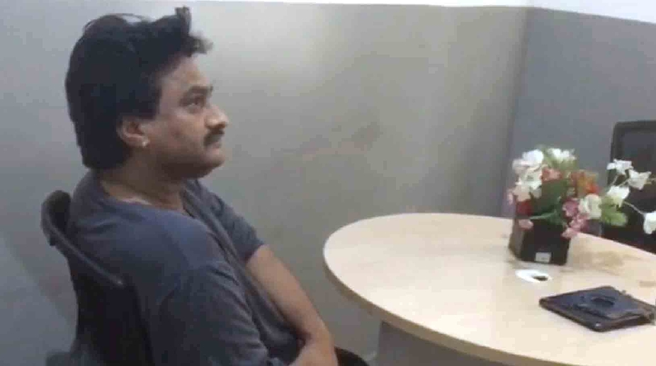"""Hyderabad: Singer Kesiraju Srinivas aka """"Ghazal Srinivas"""", who has been arrested on charges of sexual harassment in Hyderabad on Jan 2, 2017. A case against him was registered on December 29 following a complaint by a woman, a radio jockey. (Photo: IANS)"""