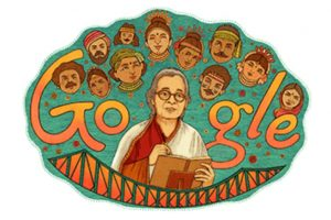 Google dedicates doodle to author-activist Mahasweta Devi
