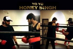 Yo Yo Honey Singh sweats it out for his upcoming music video