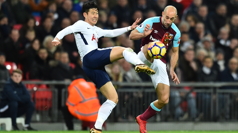 Heung-Min Son, Pablo Zabaleta, West Ham United F.C., Premier League, Tottenham Hotspur vs West Ham United