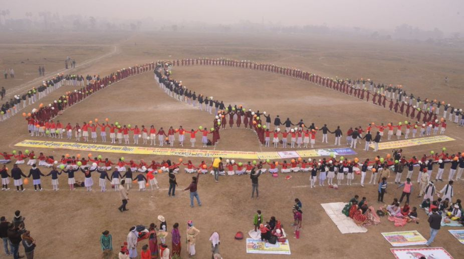 Human chain, Students, Bihar, Child marriage, Dowry