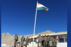 Chinese soldiers salute Indian Tricolour at ceremonial meet on Republic Day