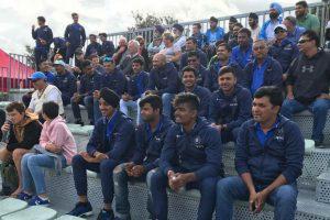 India U-19 cricket WC squad cheers hockey team in New Zealand