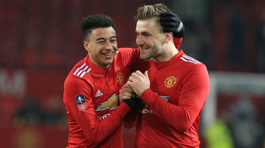 Manchester United F.C., Premier League, FA Cup, Manchester United vs Derby County, Luke Shaw, Jesse Lingard