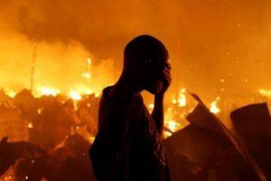 3 dead, thousands homeless after night fire in Kenyan slum