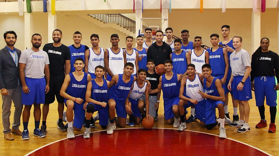Kevin Martin with NBA Academy India